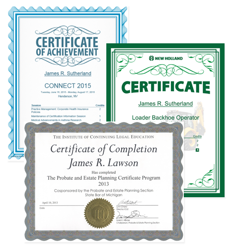 Examples of Certificate options